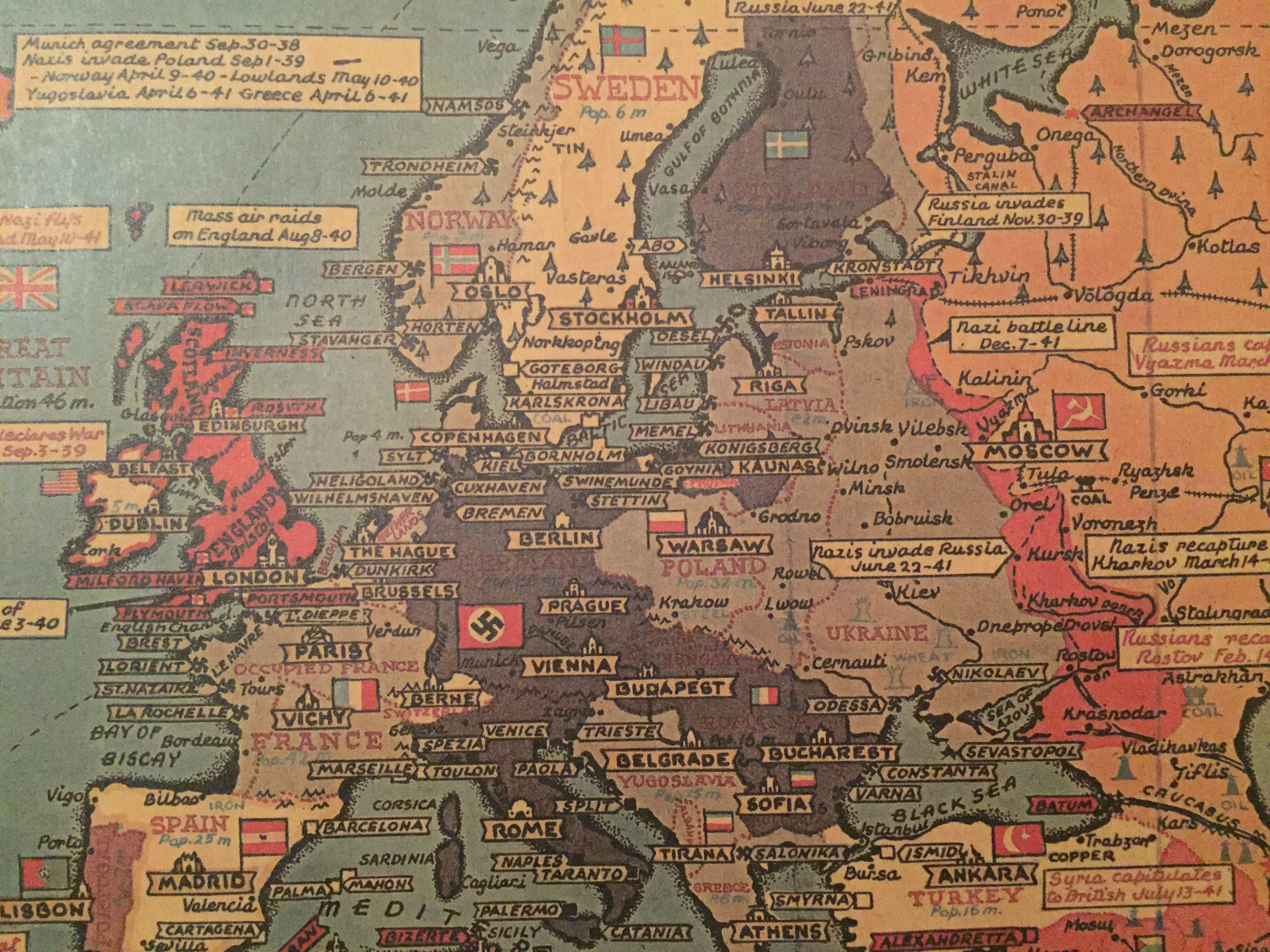 2 verdenskrig kart Kart over andre verdenskrig – Kartmesteren.no 2 verdenskrig kart